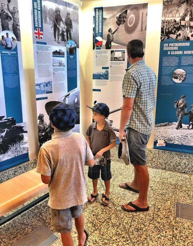 family at a museum