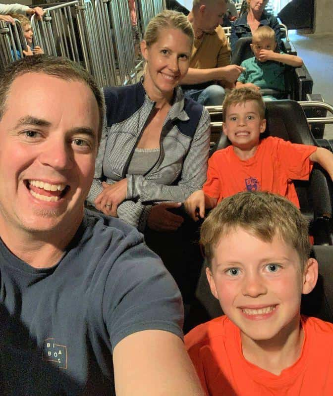 family on ride