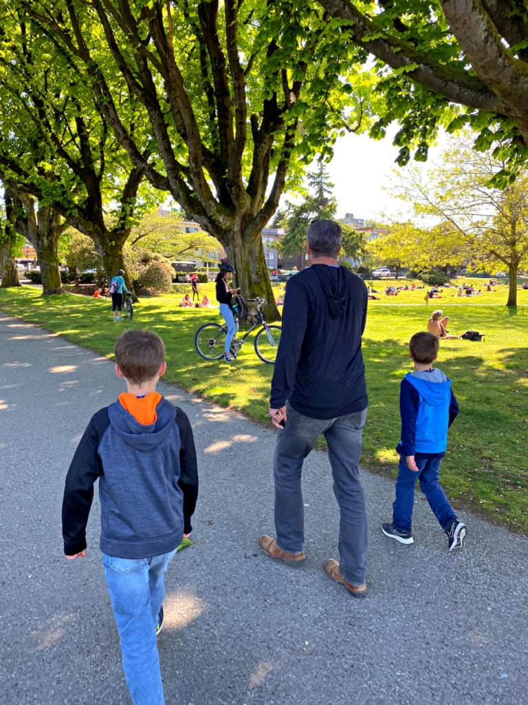 Kitsilano beach in Vancouver with kids