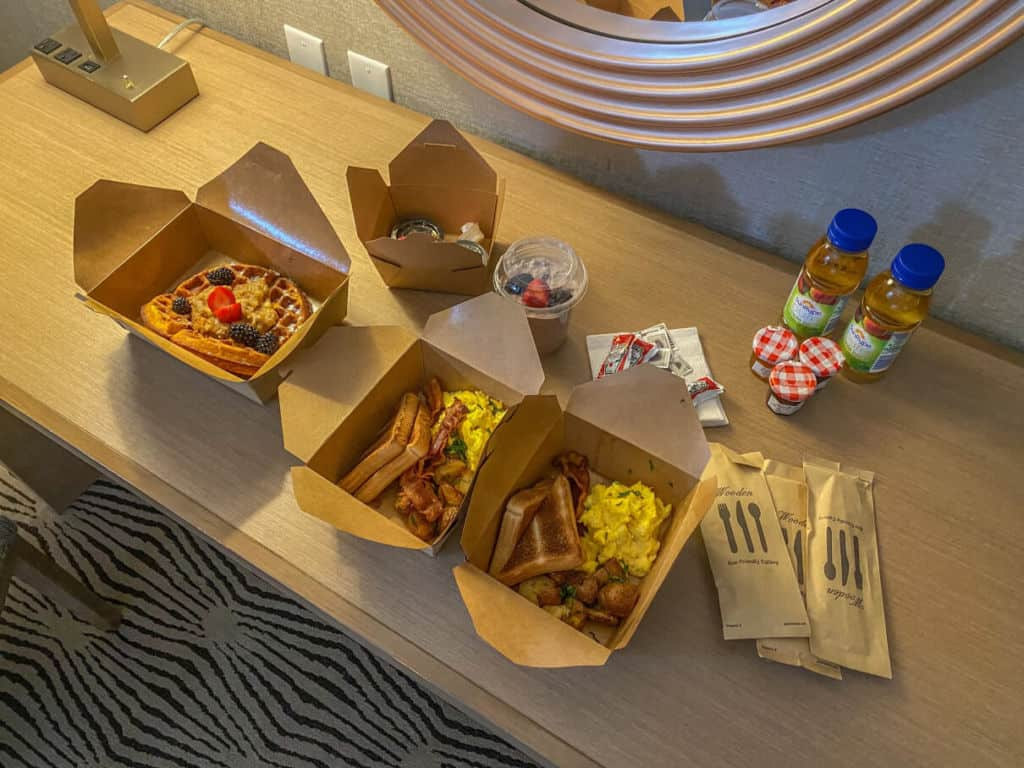 Takeout for breakfast from Mantles Restaurant