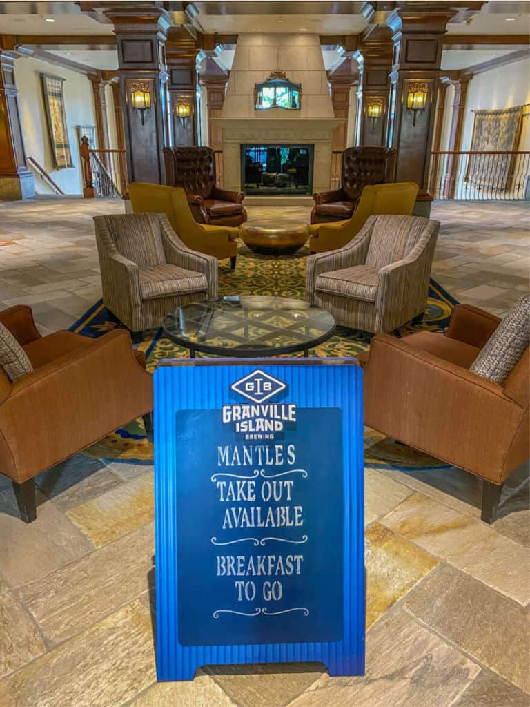 Takeout is available at Sun Peaks Grand Hotel