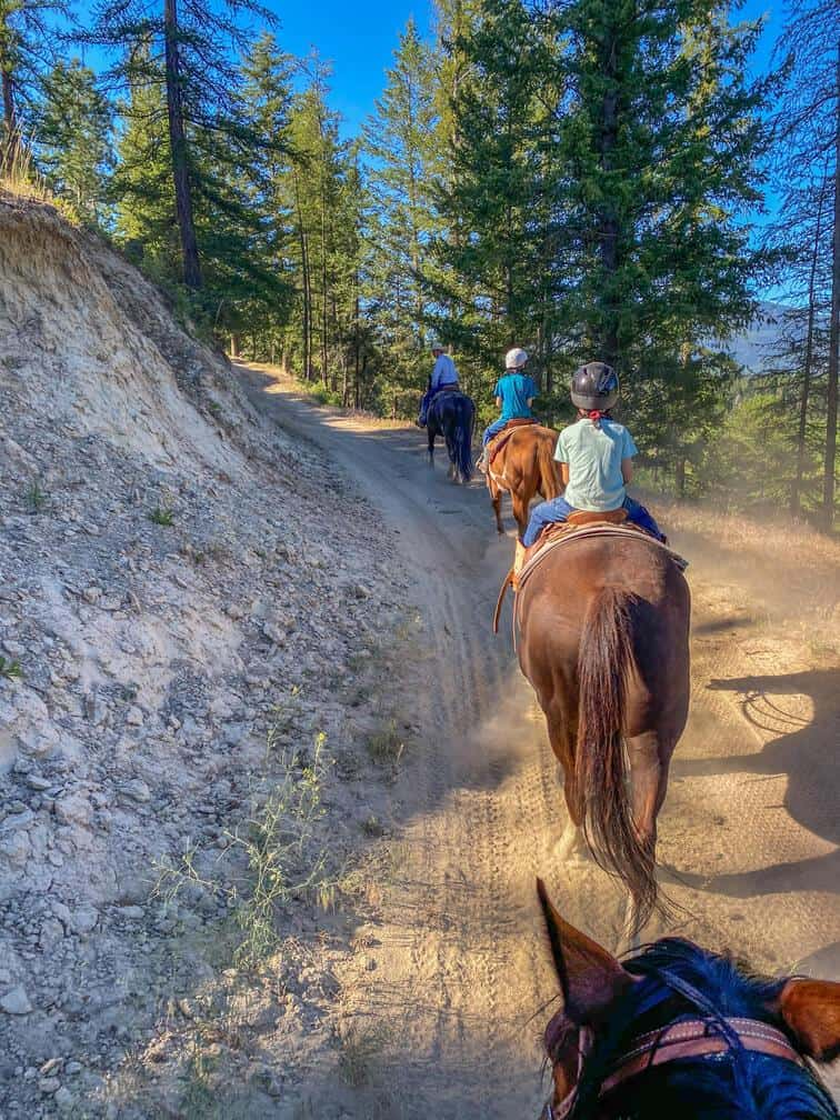 our first trail ride at three bars ranch