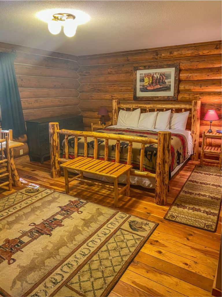 my cabin with a king bed