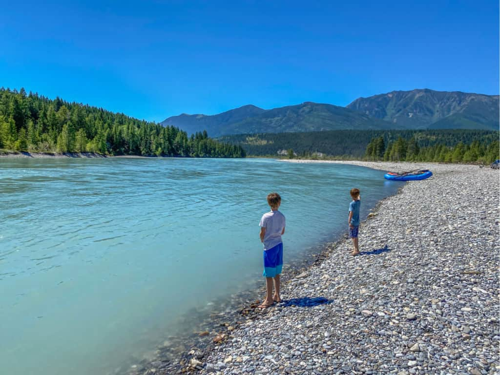 standing next to the river in canal flats, bc