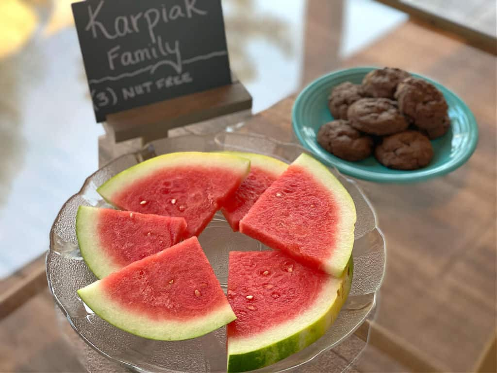 watermelon and cookies