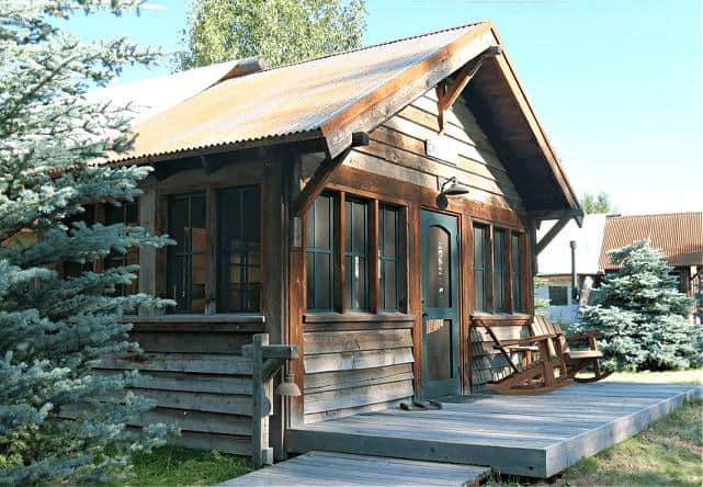 cabin at best dude ranch in north america