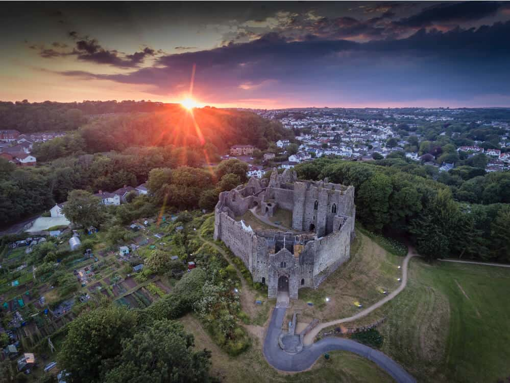 oystermouth castle mumbles swansea